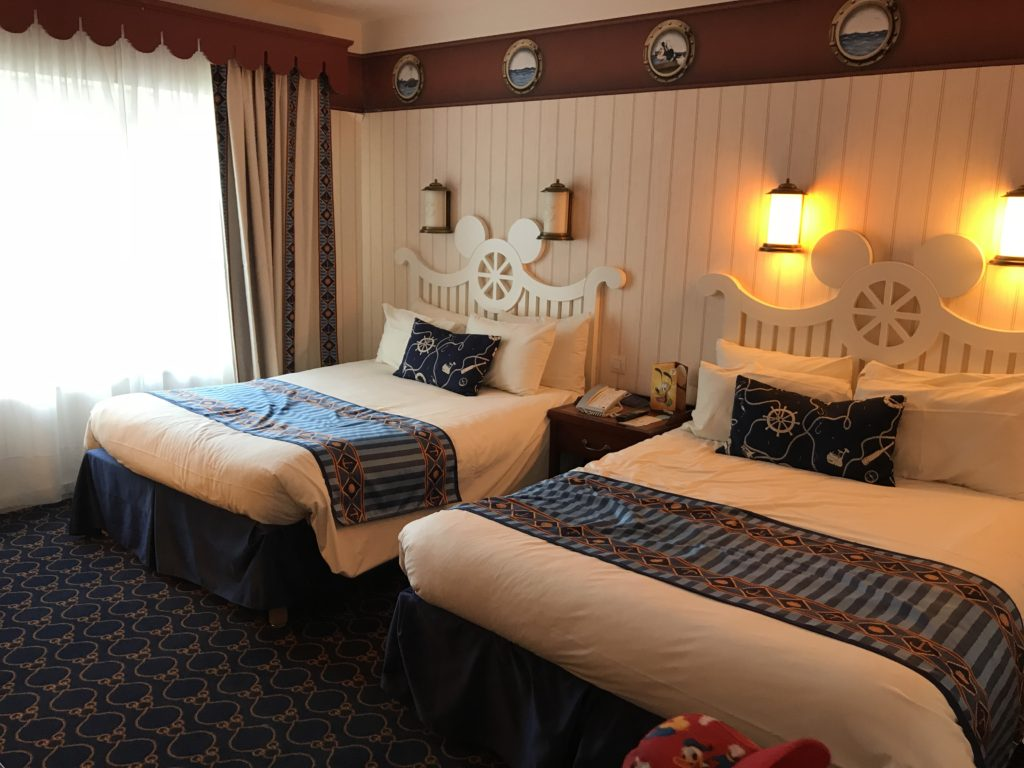 our room at the Newport Bay Club hotel Disneyland Paris