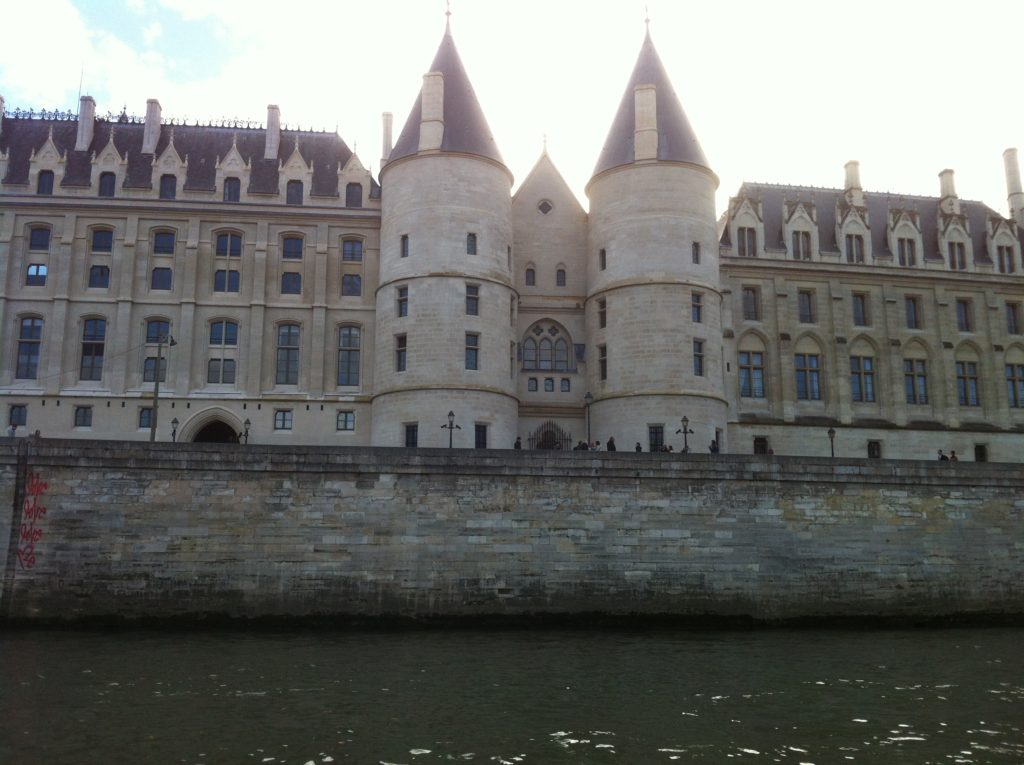 The Conciergerie, seen from a boat trip on the river Seine