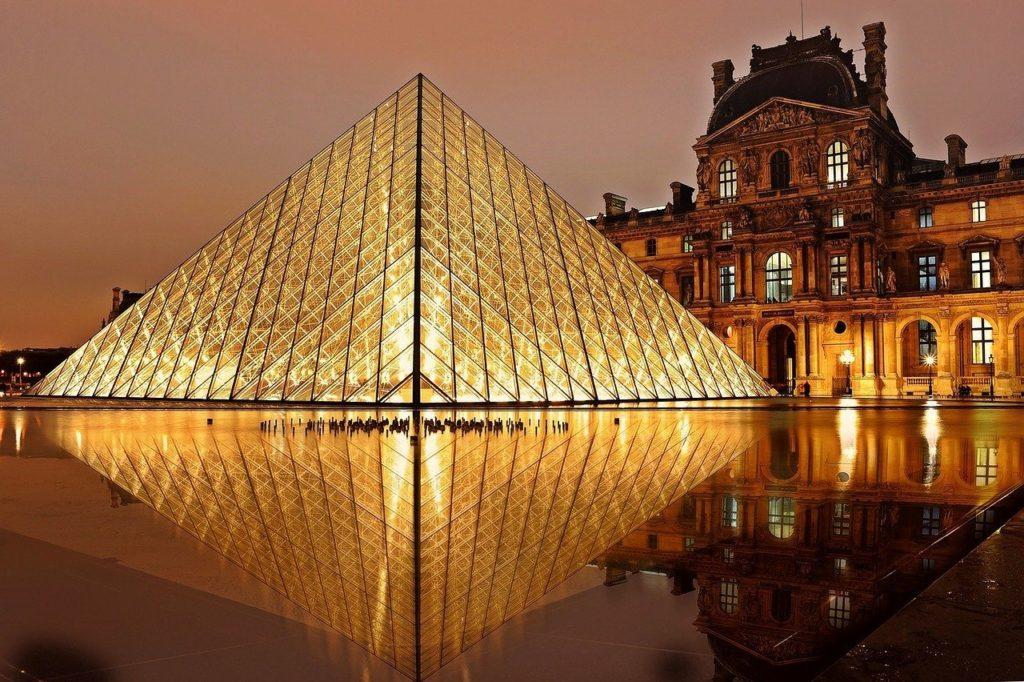 The Louvre museum in Paris.