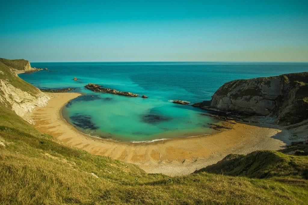 Beautiful scenery at Lulworth Cove Dorset