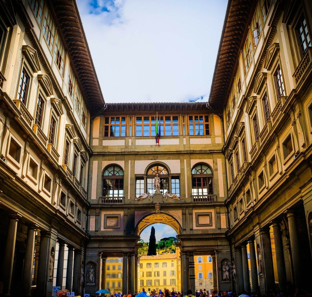 florence, italy, uffizi gallery
