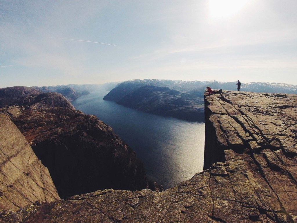 cliff, rock, massive