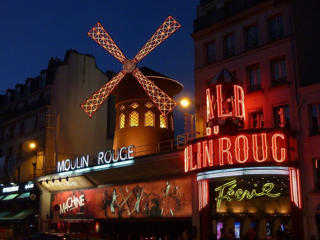 moulin rouge, paris, red mill