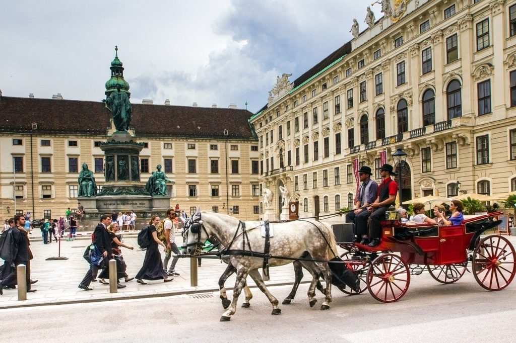vienna, hofburg imperial palace, fiaker
