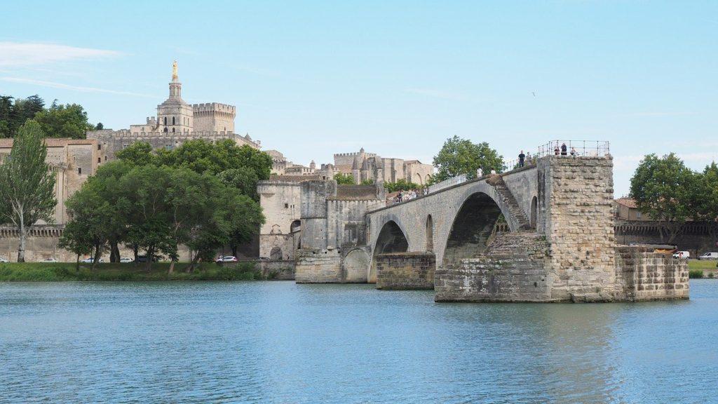 pont saint bénézet, pont d'avignon, rhône